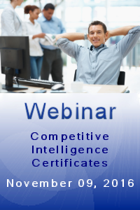 Webinar - Competitive Intelligence Certificates